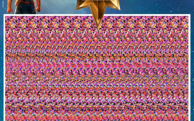 "Marvel Shares ""Captain Marvel"" Magic Eye Images for Fun 90s Throwback"