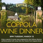 Downtown Disney's Catal Restaurant to Host Coppola Wine Dinner
