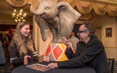 Dumbo Director Tim Burton Surprises Guests at Disneyland