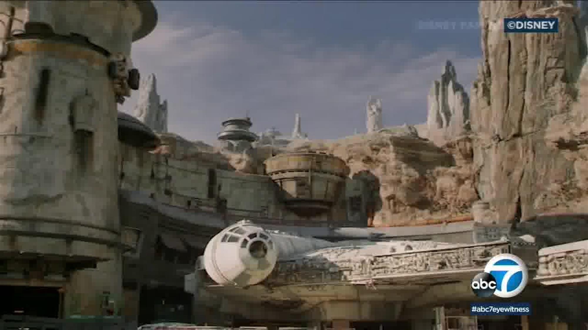 This will be an average guest's view as they approach the Millennium Falcon: Smuggler's Run attraction at Galaxy's Edge. Or if you want to make the same joke that's been made a thousand times already on social media, you could Photoshop in a crowded sea of tourists to make the view more accurate.