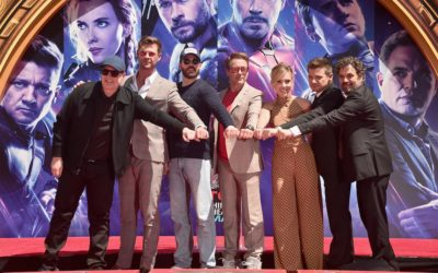 Kevin Feige, Original Six Avengers Leave Handprints at TLC Chinese Theatre in LA