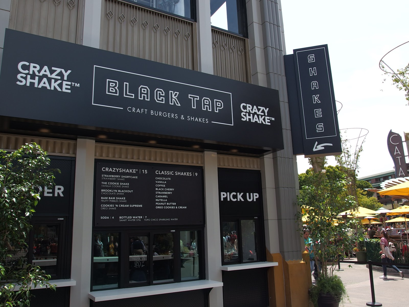 Black Tap Anaheim's walk-up counter for Crazy Shakes is exclusive to this location