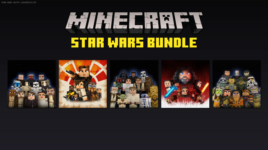 Minecraft Star Wars bundle art