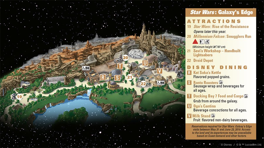 Guide map for Star Wars