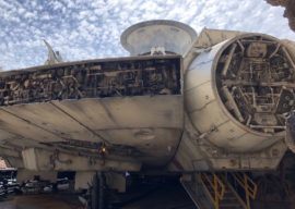First Look Inside the Millennium Falcon: Smugglers Run Queue and Cockpit