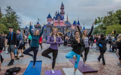 Disneyland Resort Cast Members Participate in Sunrise Yoga Session