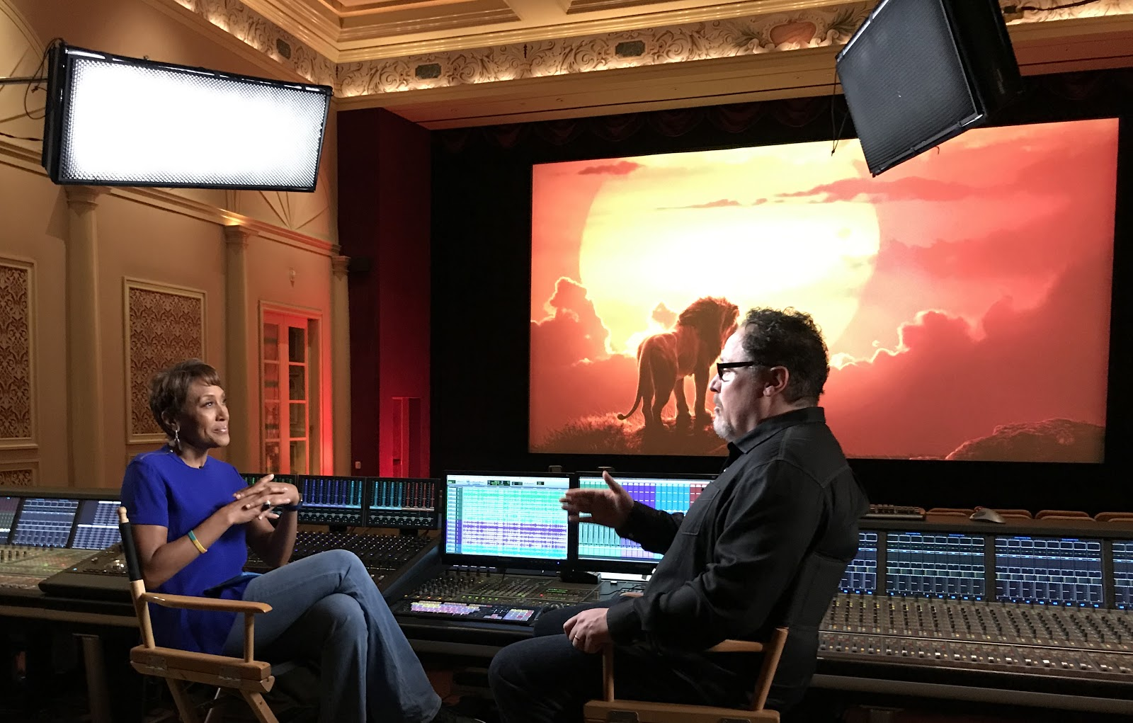 Robin Roberts, Jon Favreau (via ABC)