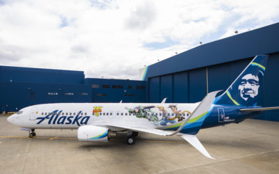 """To Infinity And Beyond!"" Alaska Airlines Debuts ""Toy Story 4"" Plane"