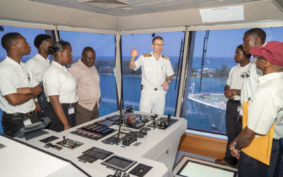"Disney Cruise Line Celebrates ""Day of the Seafarer"" With Students from the Bahamas Maritime Cadet Corps"