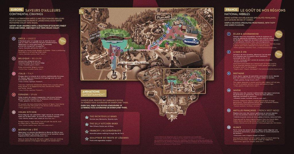 Disneyland Paris Reveals the Menus for Le Rendez-Vous Gourmand! 2