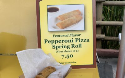 Quick Bites Review - Adventureland Spring Roll Cart (Pepperoni Pizza Spring Roll and Cheeseburger Spring Roll)
