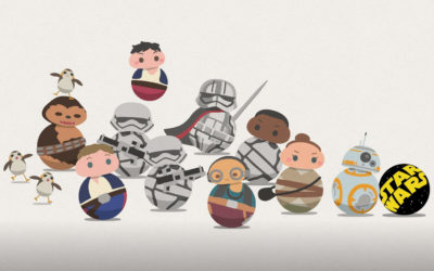 """Artist Reimagines Star Wars Characters as BB Units in """"Star Wars Roll Out"""" Shorts Series"""