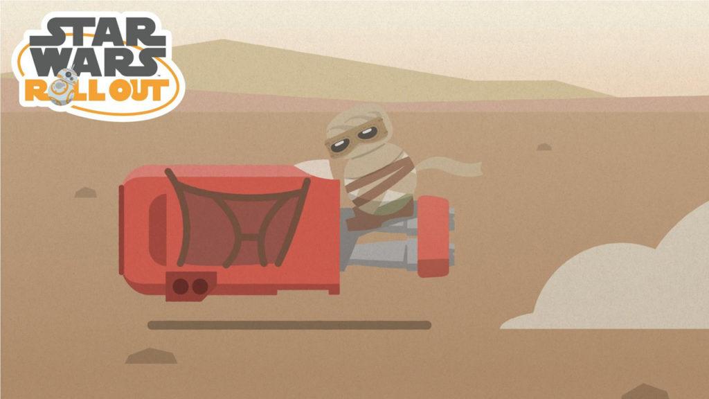 Star Wars Roll Out - Rey on her speeder