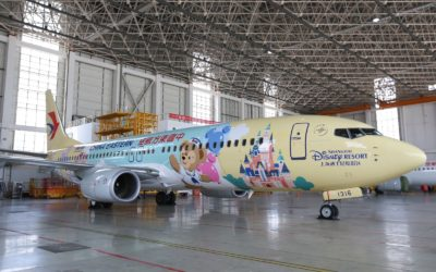China Eastern Airlines Debuts Disney-Themed Duffy Friendship Express Plane