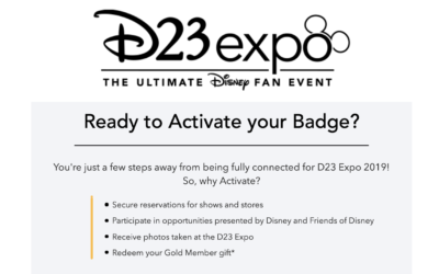 D23 Shares Tips On Activation and Reservations for D23 Expo 2019 Badges
