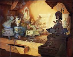 (Pinocchio backgrounds painted by Claude Coats)