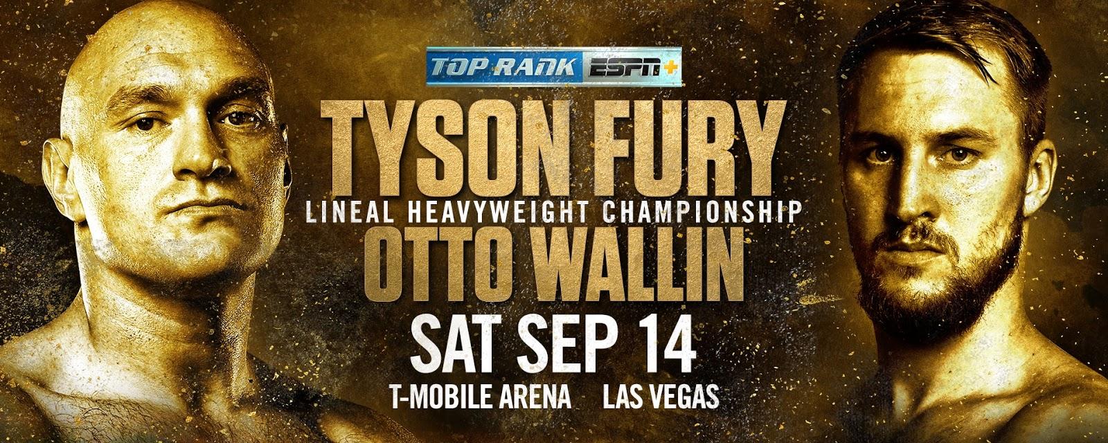 ESPN, ESPN+ to be Exclusive U S  Broadcaster of Fury-Wallin