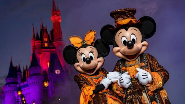 Mickey and Minnie at Mickey's Not-So-Scary Halloween Party