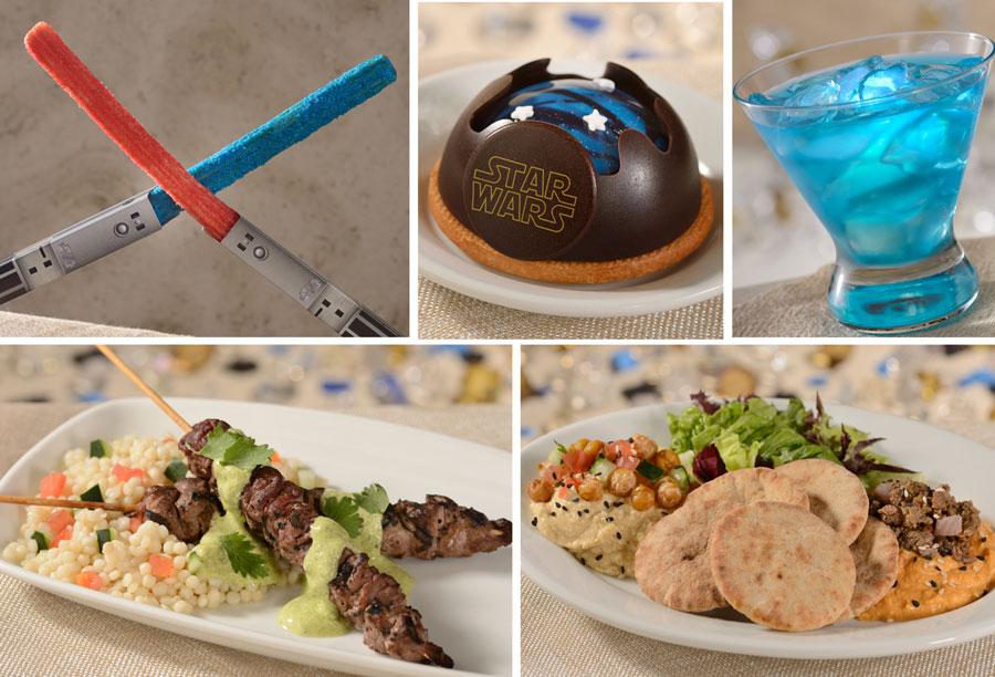 Various Star Wars food and beverage offerings from Disney's Hollywood Studios