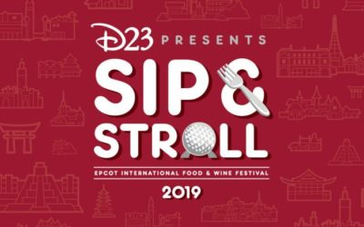 D23's Sip & Stroll Event Returns to Epcot, Tickets on Sale Monday