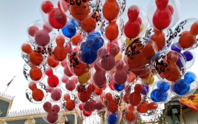 Magic Kingdom Cast Member Battles Winds While Holding a Bunch of Balloons