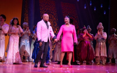 "Regina Belle, Peabo Bryson Perform ""A Whole New World"" at ""Aladdin"" on Broadway"