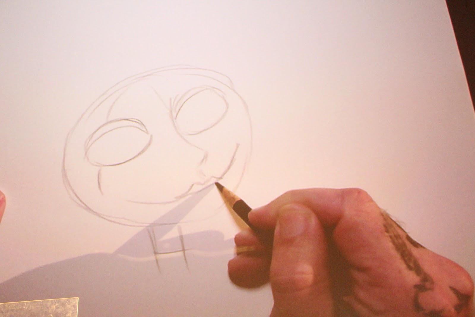 Christmas Sketches.Tim Burton Nightmare Before Christmas Sketches