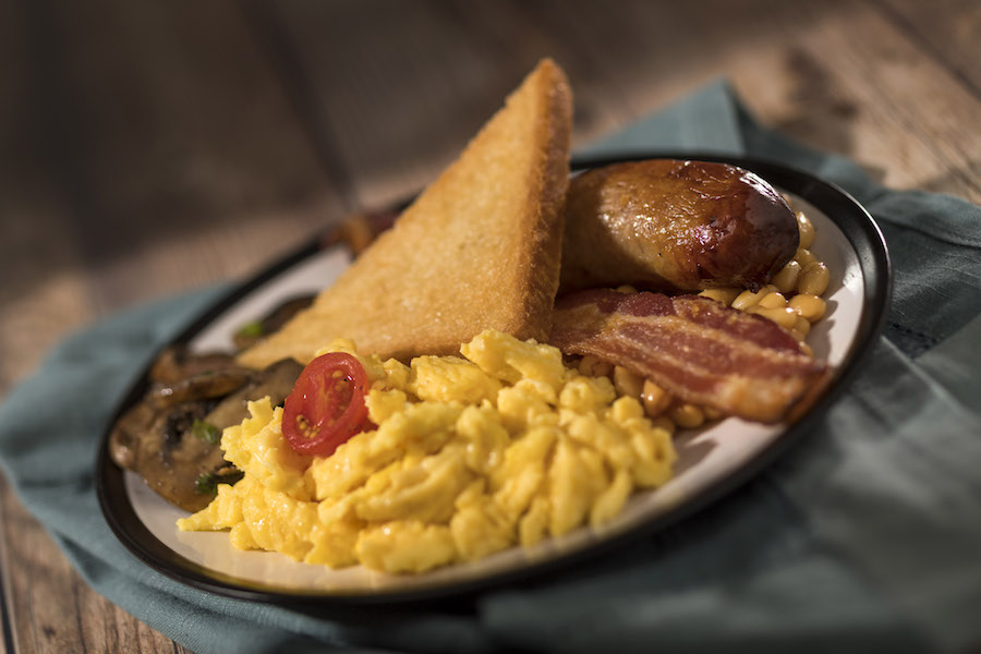 Traditional English Breakfast Platter from the Rose & Crown Pub at Epcot