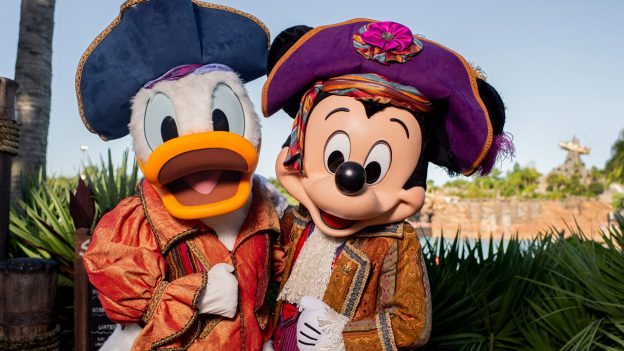 Mickey and Donald at Disney's Typhoon Lagoon
