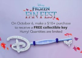 Frozen Key Giveaway Part of Disney Store's Weekend Promotions