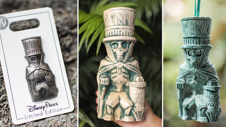 Hatbox Ghost Limited Edition Pin, Tiki Mug, and Ornament from Disney's Polynesian Village Resort at Walt Disney World Resort