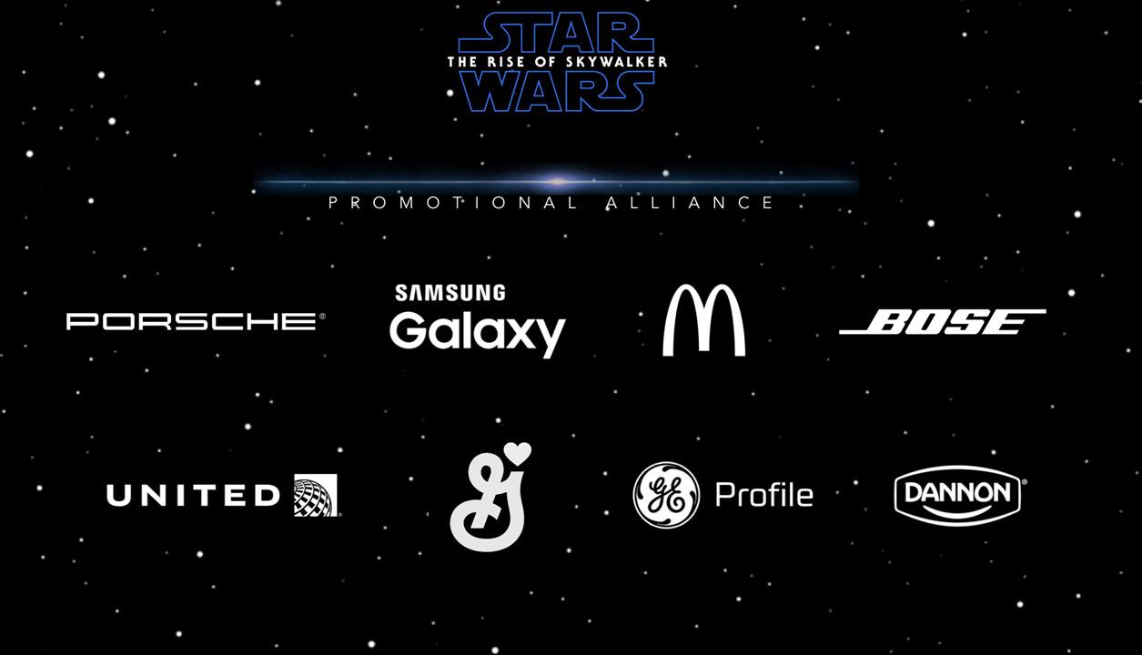 Brand partners celebrating Star Wars: The Rise of Skywalker.