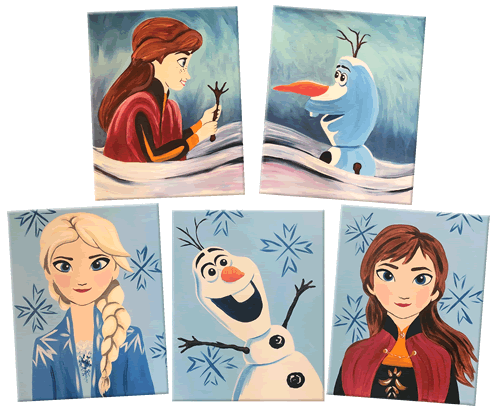 Painting With A Twist Offering Frozen 2 Art Classes For A Limited Time Laughingplace Com