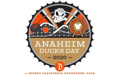 Anaheim Ducks Day Returns to Disney California Adventure January 2020