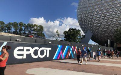 Epcot Construction Walls Photo Update
