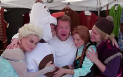"""Frozen"" Cast Joins James Corden for ""Crosswalk the Musical"""