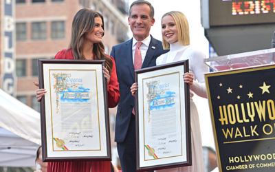 Kristen Bell and Idina Menzel Receive Stars on Hollywood Walk of Fame