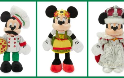 Mickey and Minnie Epcot World Showcase Plush Arrive on shopDisney