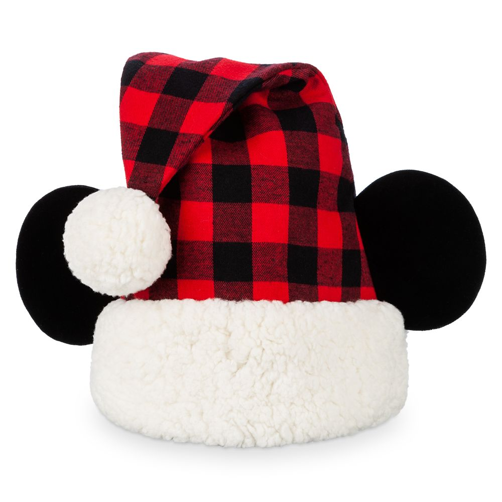 Red and Green Christmas Plaid Santa Hat Christmas Hat Novelty Plaid Flannel Santa Hat
