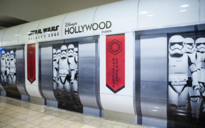 Orlando International Airport Terminals Debut New Star Wars: Galaxy's Edge Themed Wraps and Photo Spots