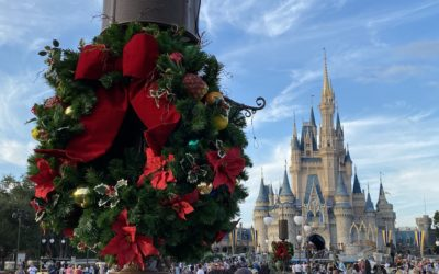 Christmas Decorations Arrive at Magic Kingdom