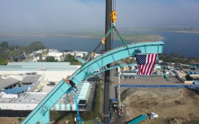 """SeaWorld San Diego's Newest Coaster Celebrates """"Topping Out"""" and Installation of the Highest Track Section on """"Emperor"""""""