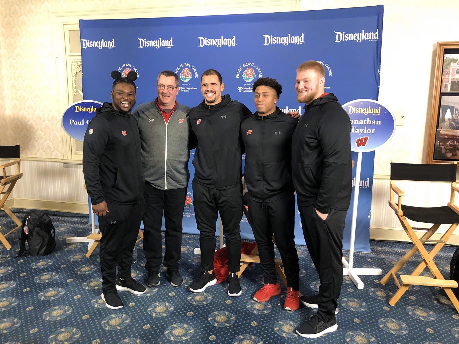 Video: 2020 Rose Bowl Teams Appear at Disneyland in ...