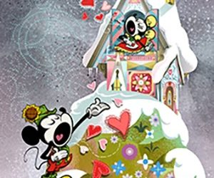 """""""Yodelberg"""" Poster for Mickey & Minnie's Runaway Railway Queue Unveiled"""