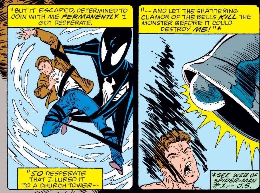 venom's symbiote can't handle sound
