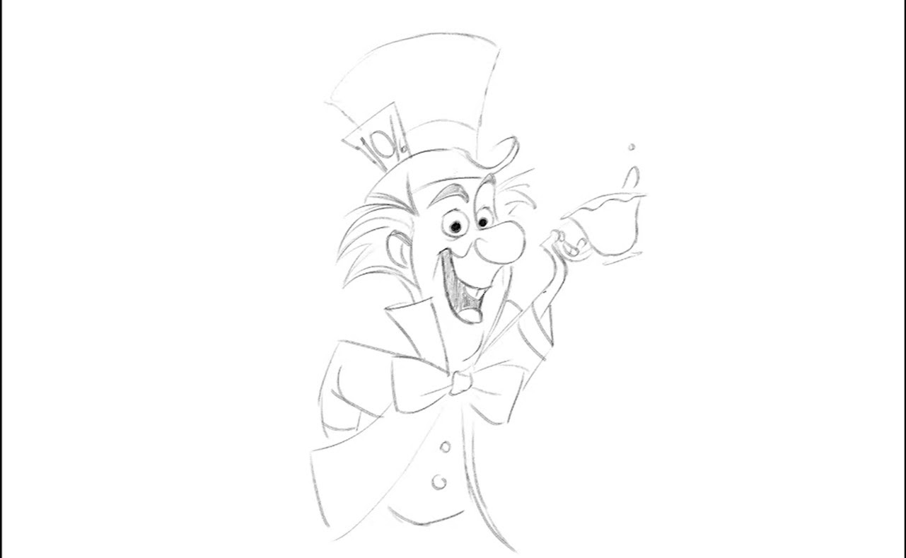 Learn To Draw The Mad Hatter From Alice In Wonderland Laughingplace Com