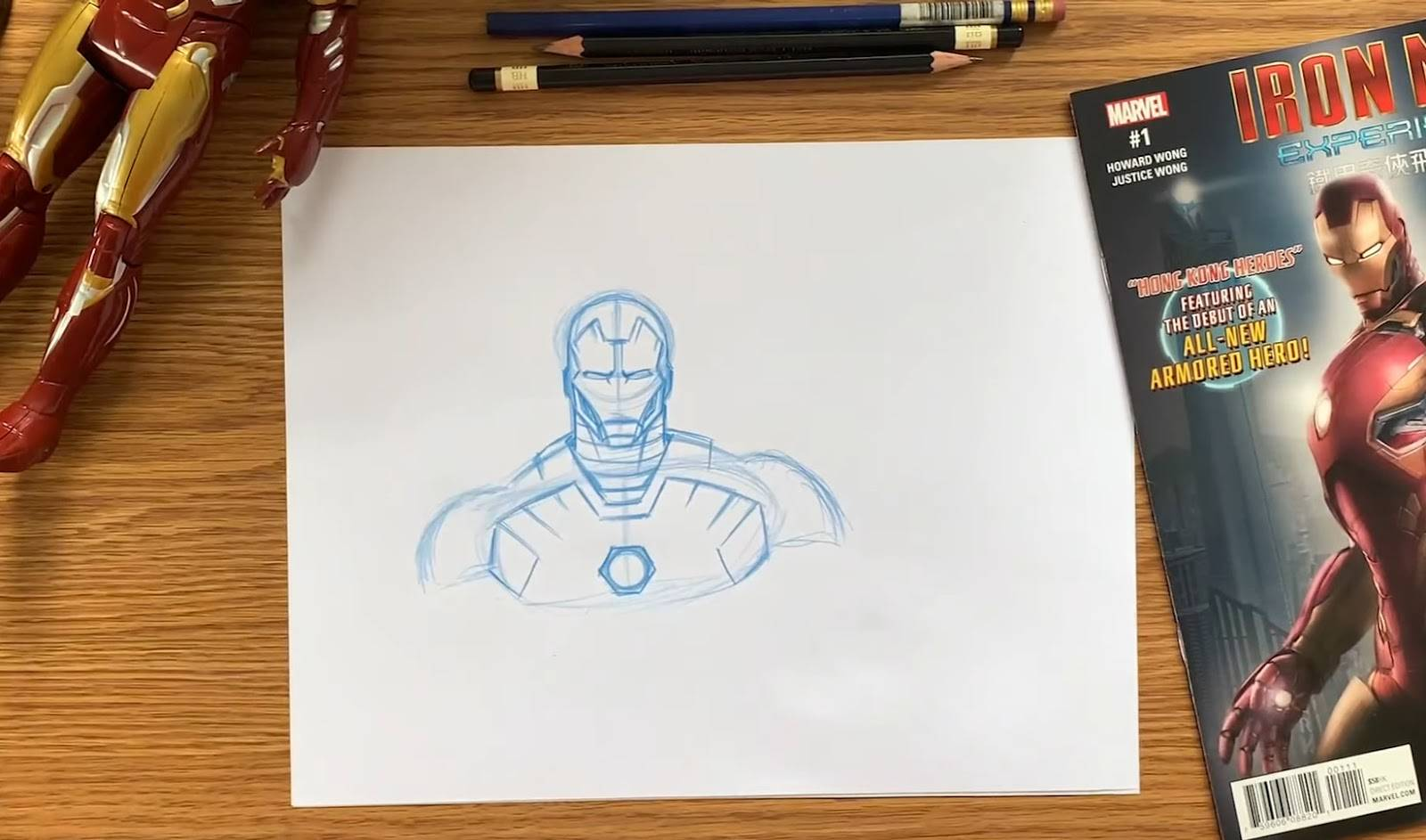 Disney Parks Video Shows Us How To Draw Iron Man Laughingplace Com