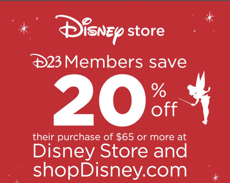 D23 Members Can Save 20 On Shopdisney Through October 31st Laughingplace Com