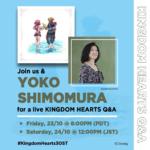 Disney Music Hosting Q&A With Kingdom Hearts Composer Yoko Shimomura on October 23rd