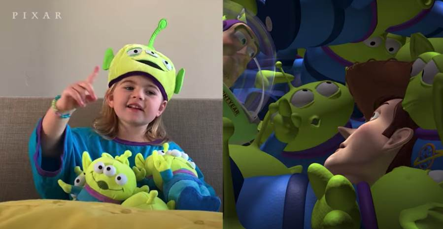 """Disney-Pixar Fans Recreate Scenes from """"Toy Story"""" to Celebrate the Film's 25th Anniversary laughingplace.com"""